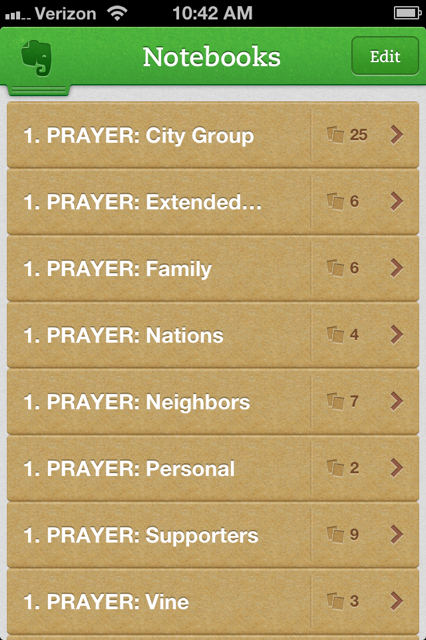 Prayer Notebooks iPhone